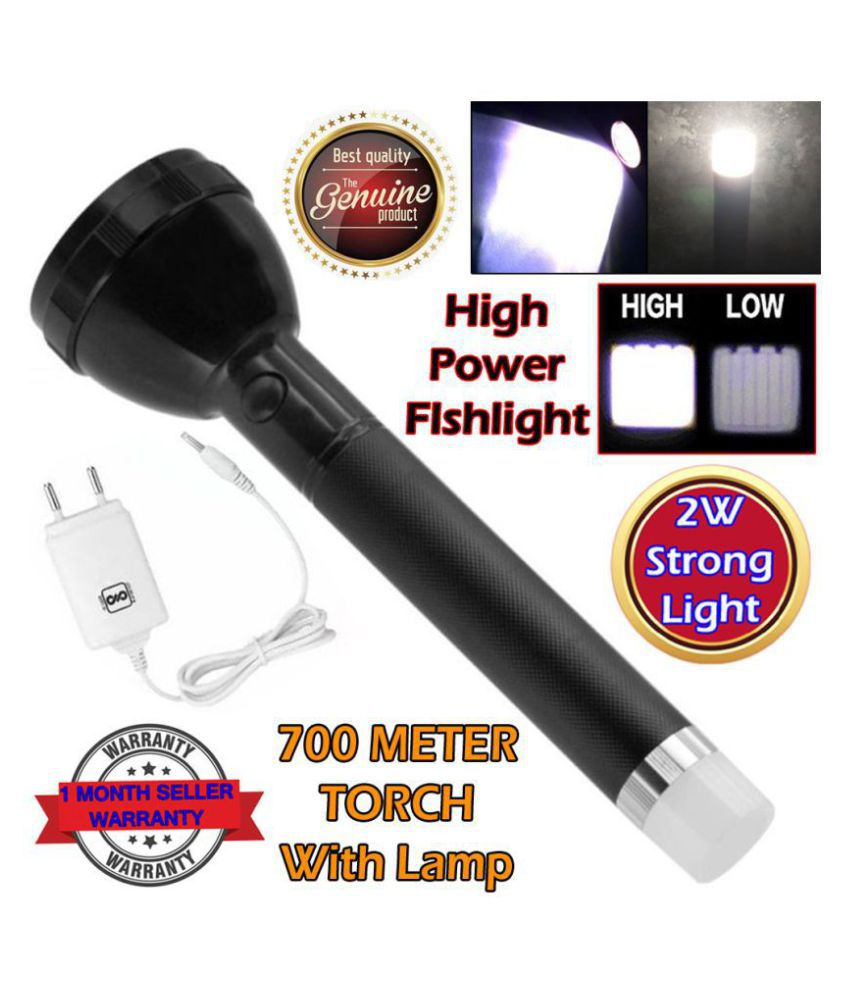 SS 2W Flashlight Torch Dual Mode LED Bulbs - Pack of 1