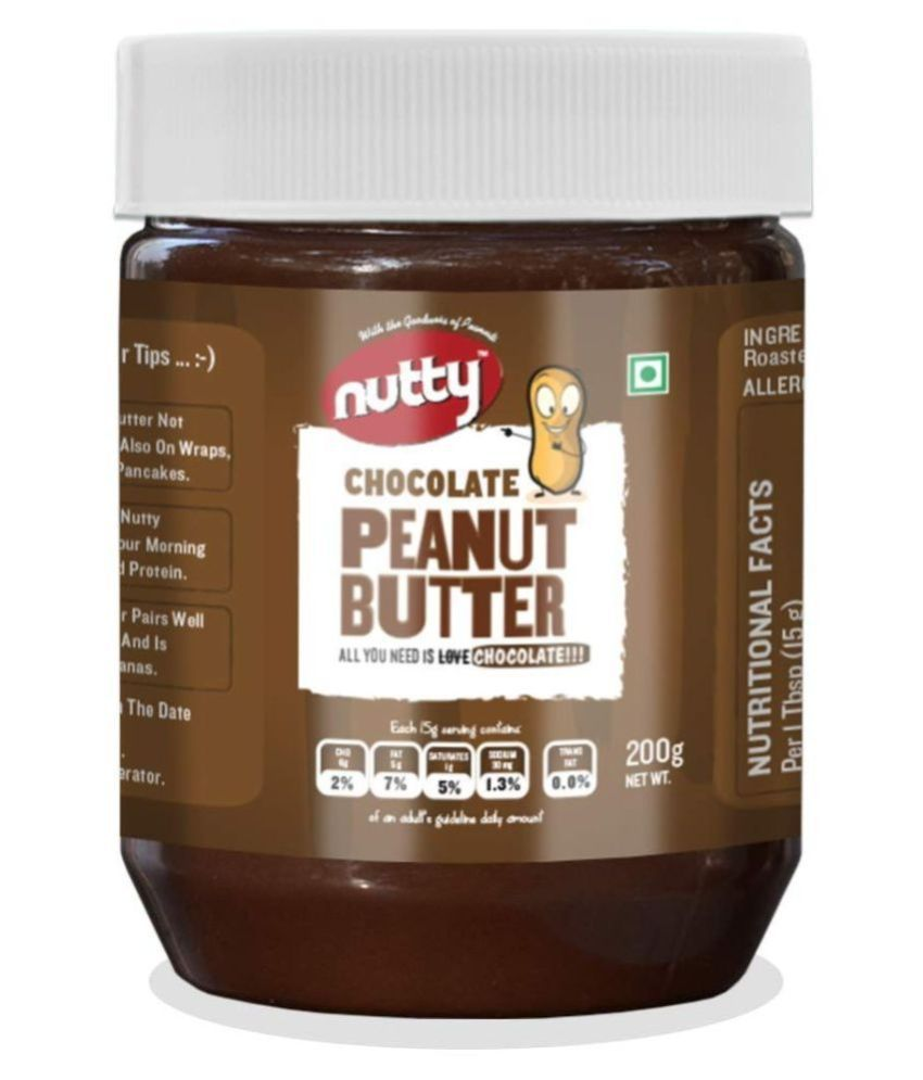 nutty CHOCO PEANUT BUTTER Spread 200 g Pack of 2