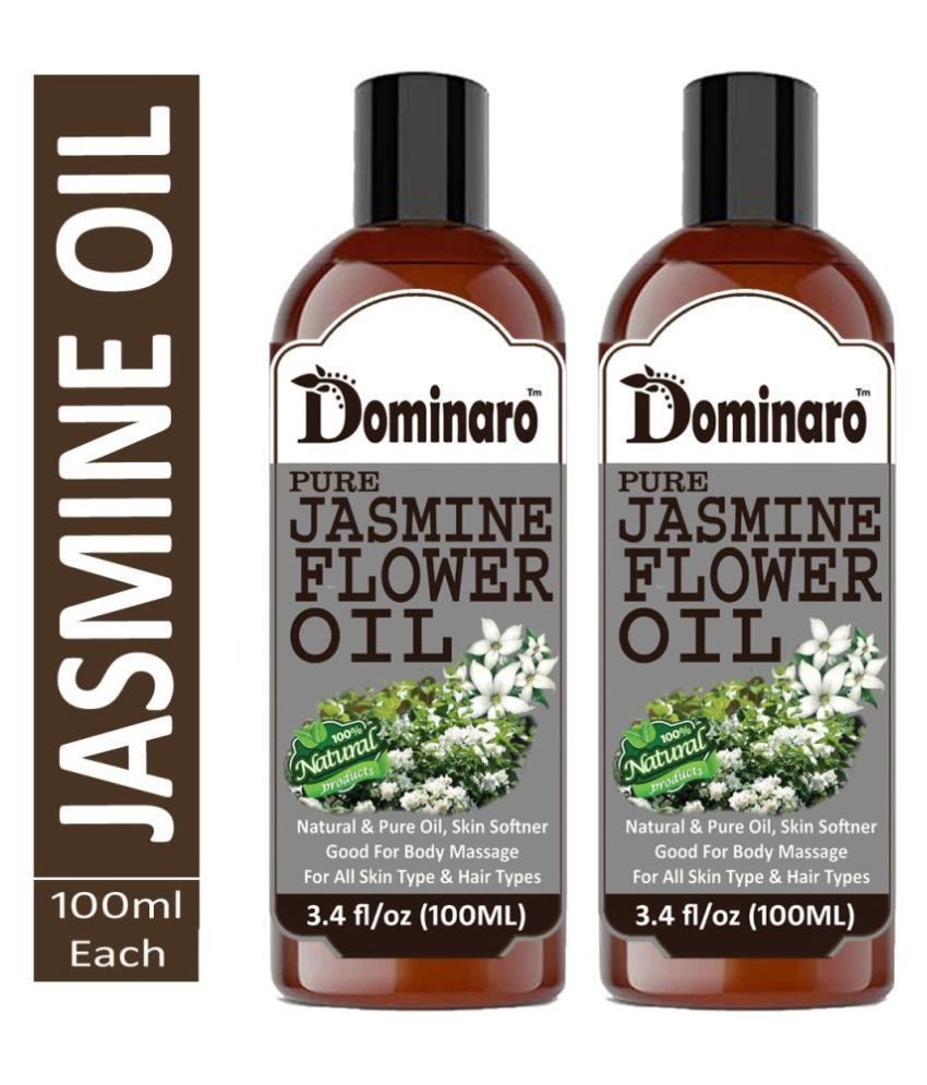 Dominaro Cold Pressed Jasmine Flower - Chameli oil 100% Pure & Natural 200 mL Pack of 2