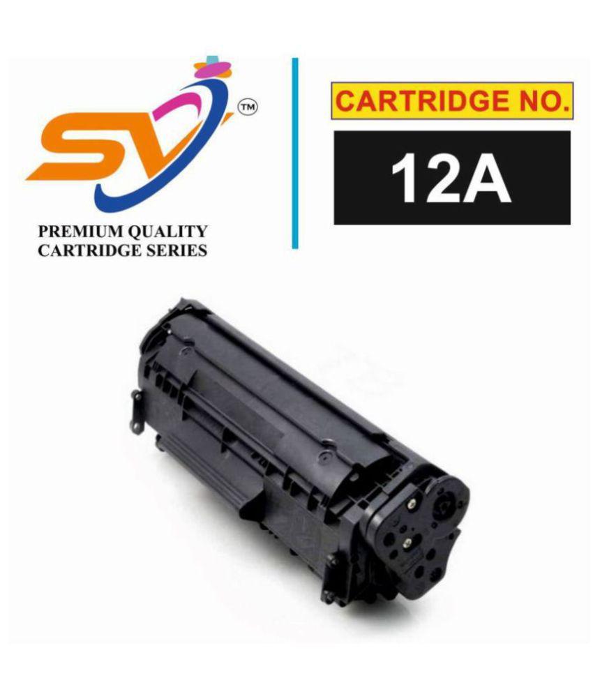 SiddhiVinayak Q2612A Black Single Toner for 12A Q2612A TONER CARTRIDGE