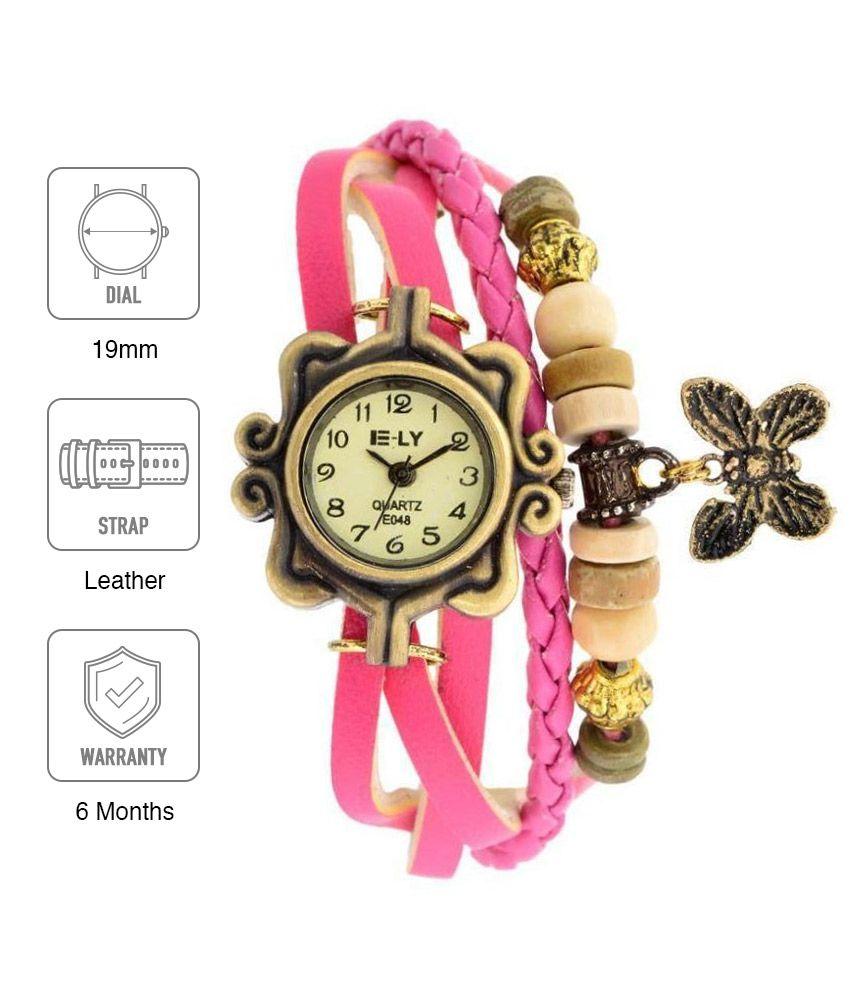 Glory Pink Analog Watch