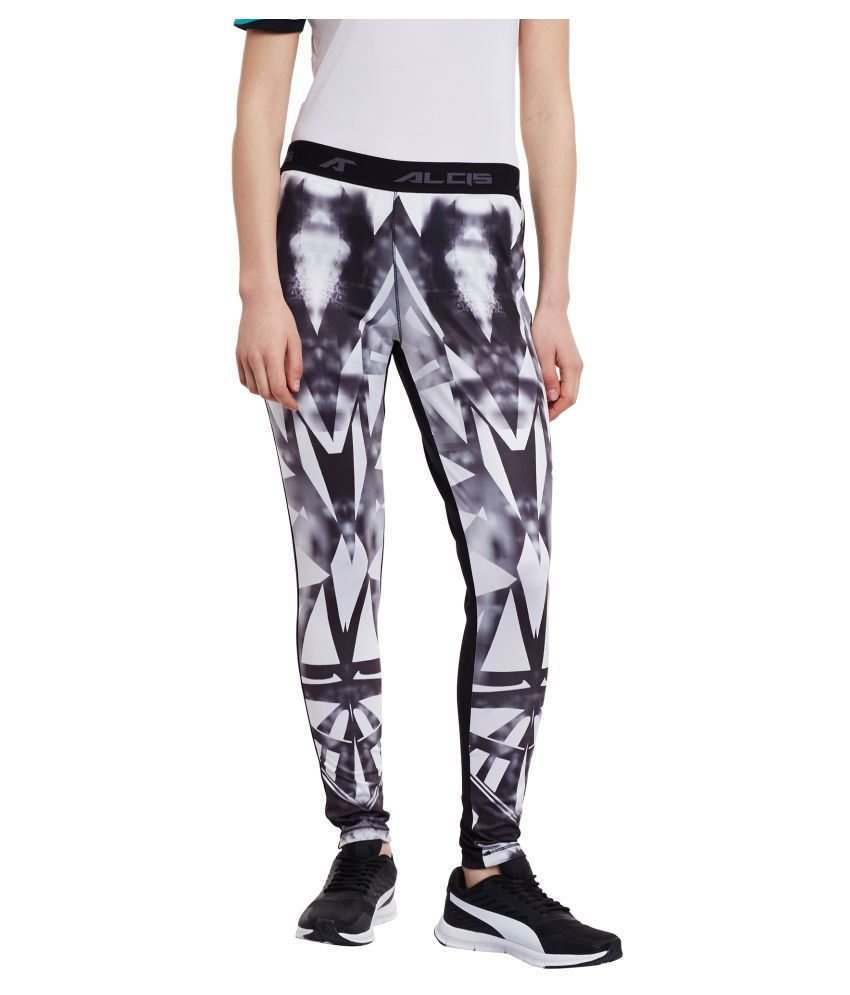 Alcis White Polyester Trackpants