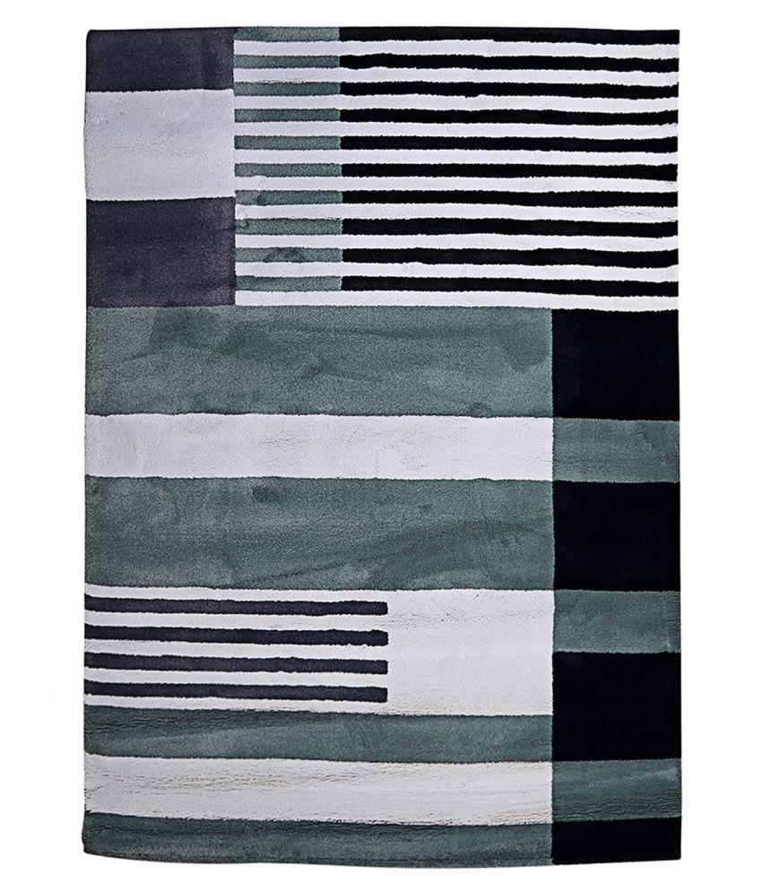 Obsessions Multi Polypropylene Carpet Stripes 2x4 Ft