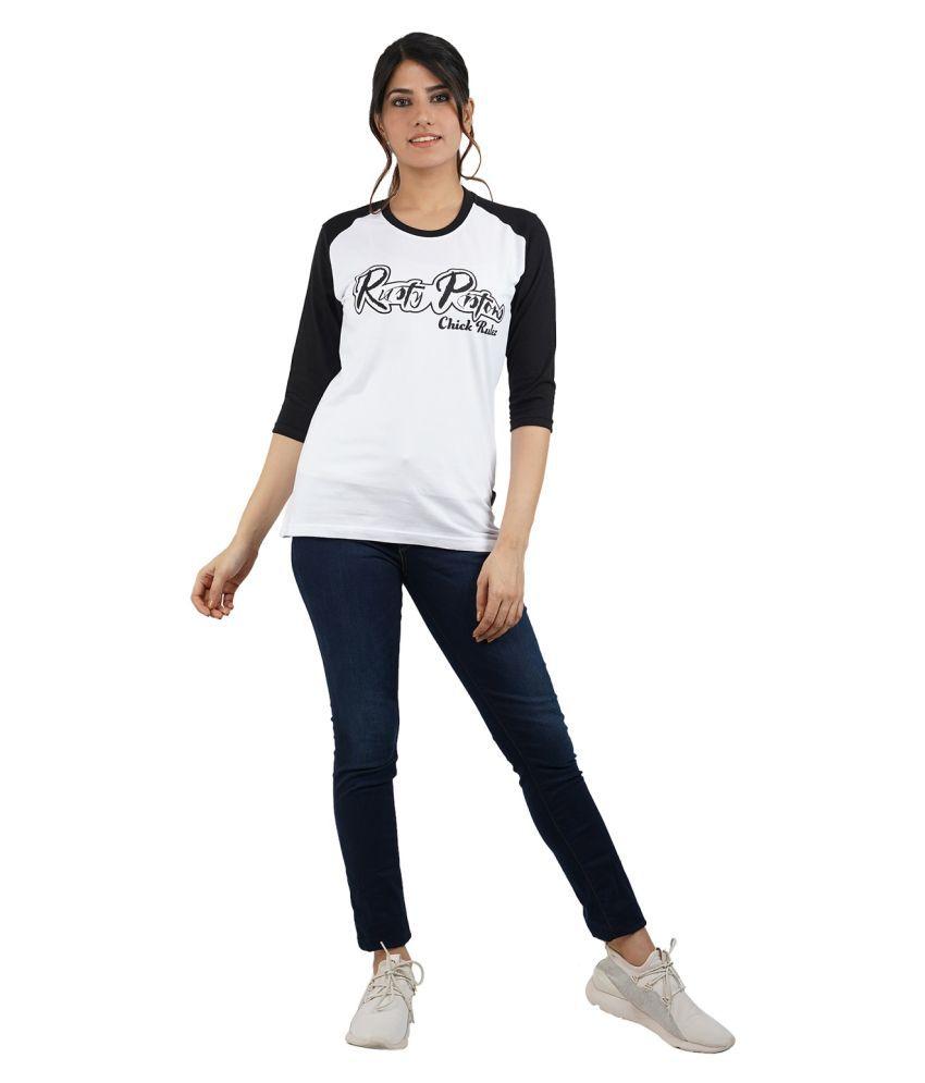 Jolie Robe Cotton White T-Shirts