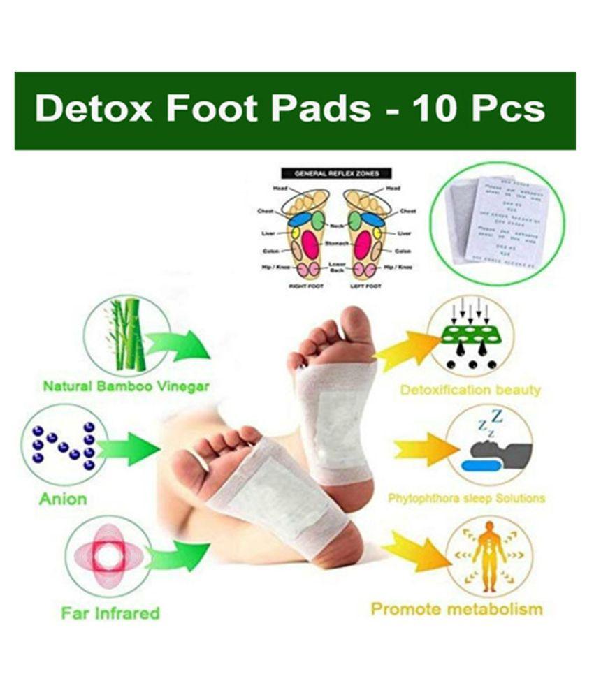 Kinoki Patch Cleansing Detox Foot Pads- 10Pcs White Free Size