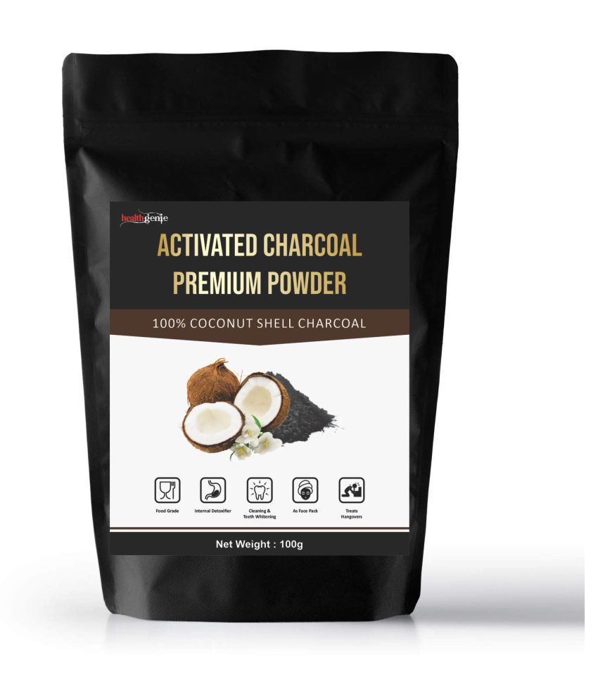 Healthgenie Activated Charcoal Powder Coconut Based - 100 gm Minerals Powder