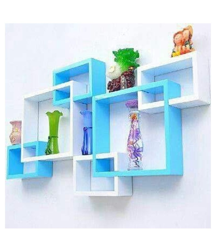 HARIS ART GALLERY Floating Shelves Multicolour MDF - Pack of 1