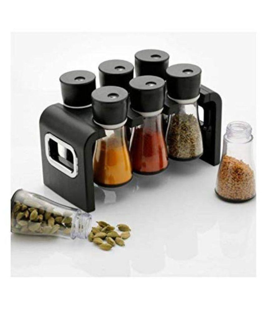 JE EXPORT  Spices Rack 6 Jars Stand