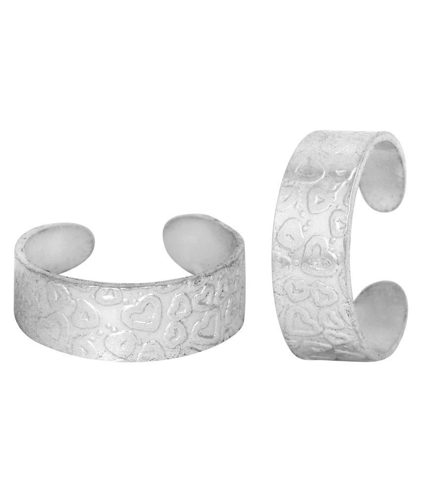Magnificent Heart Design Silver Toe Ring-TRRD021