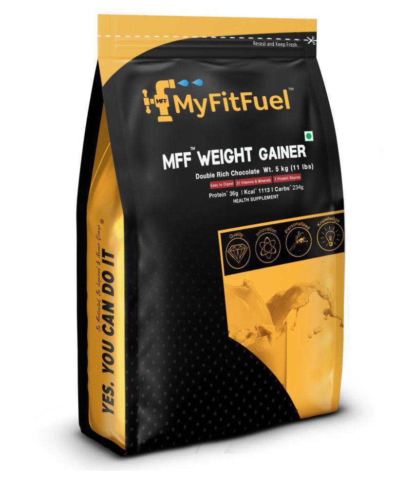 MyFitFuel Weight Gainer 5 kg, Double Rich Chocolate 5 kg Weight Gainer Powder