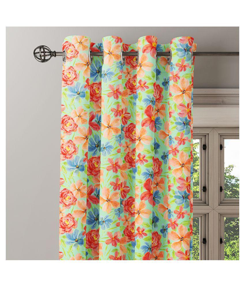 Ixora Decor Single Door Eyelet Cotton Curtains Multi Color