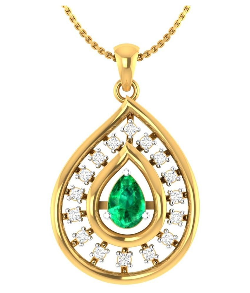 P Gitanjali Jewels 18k Yellow Gold Plated 925 Sterling Silver Pendant for Women  amp; Girls   PGP1116