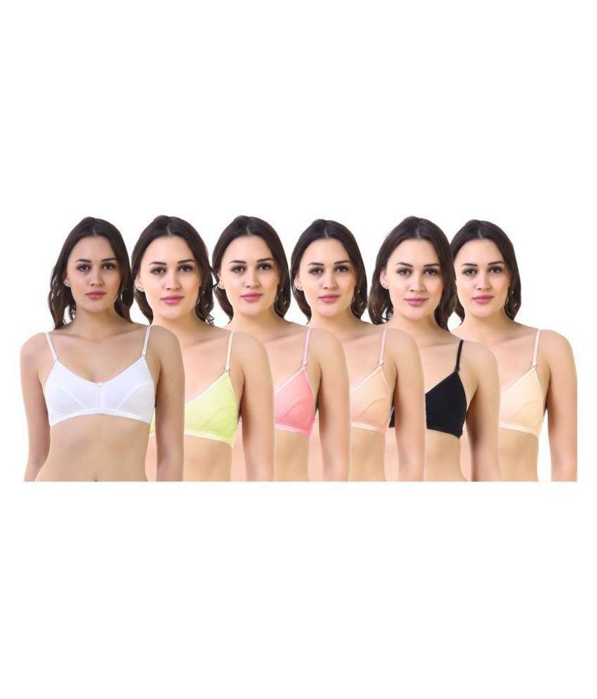 SK Dreams Cotton Everyday Bra - Multi Color