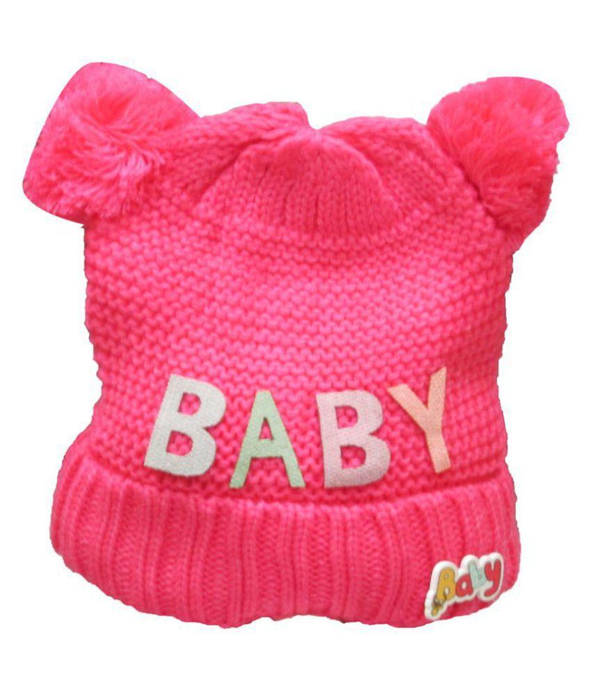 VBaby Cute Adorable Baby Winter Wear Woolen Baby Cap 6-24 months