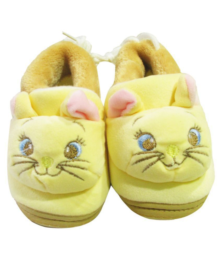 VBaby Kitty Soft Organic First Walking Shoes Baby Bootie With Rubber Sole for Baby Boys and Baby Girls
