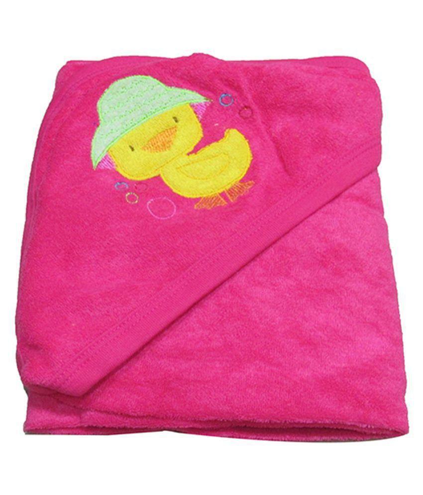 VBaby Pink Fleece Baby Blanket ( 73 cm × 73 cm- 1 pcs)