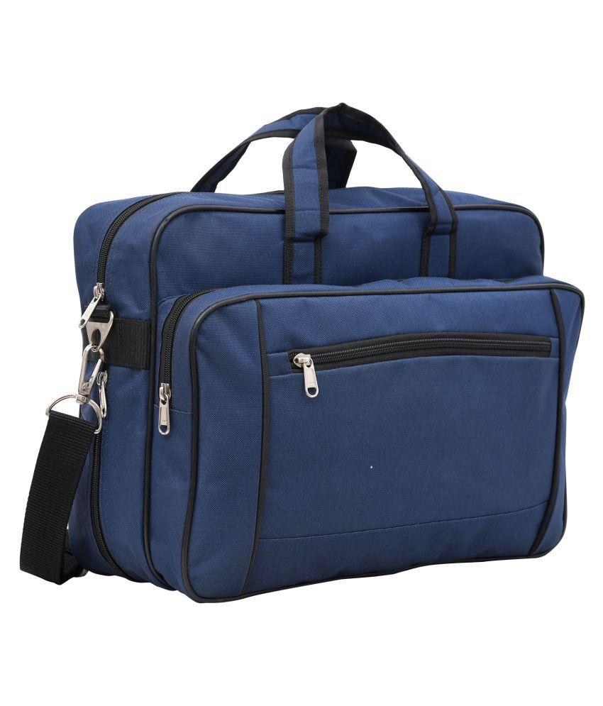 AQUADOR 1385 Blue Canvas Office Bag
