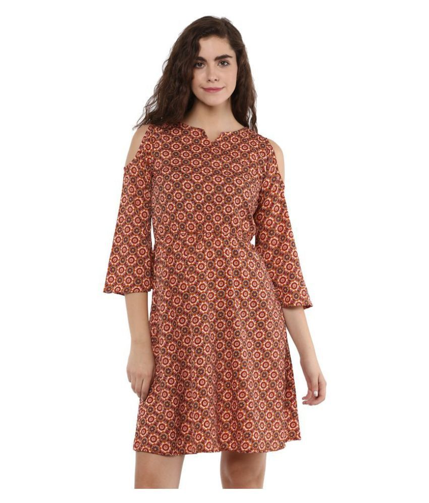 KAPOOR BROTHERS Crepe Multi Color Regular Dress