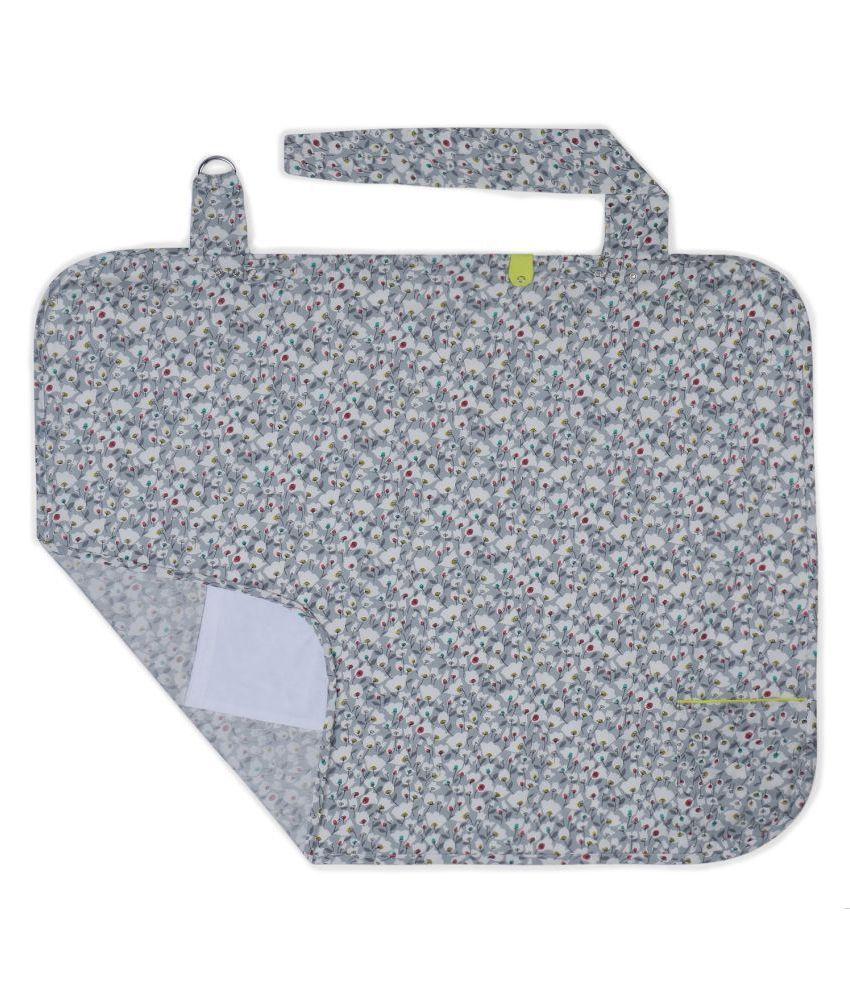My Milestones Grey 100 % Cotton Nursing Cover