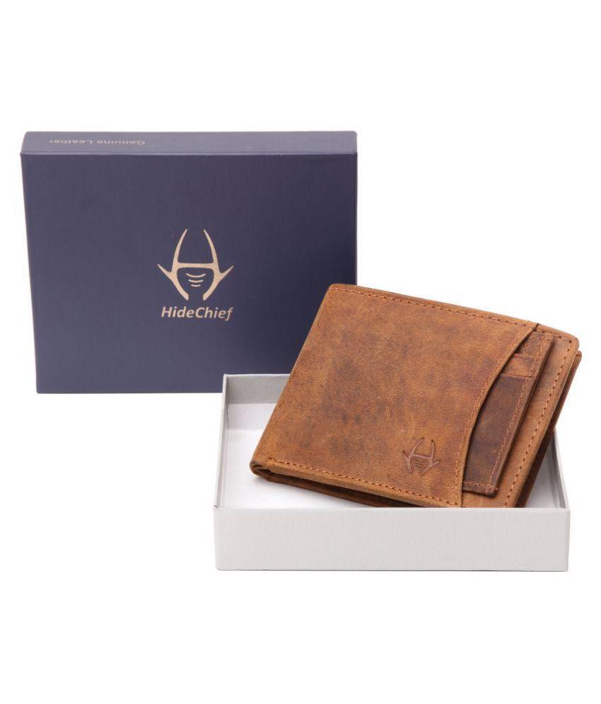 HideChief Leather Tan Formal Regular Wallet