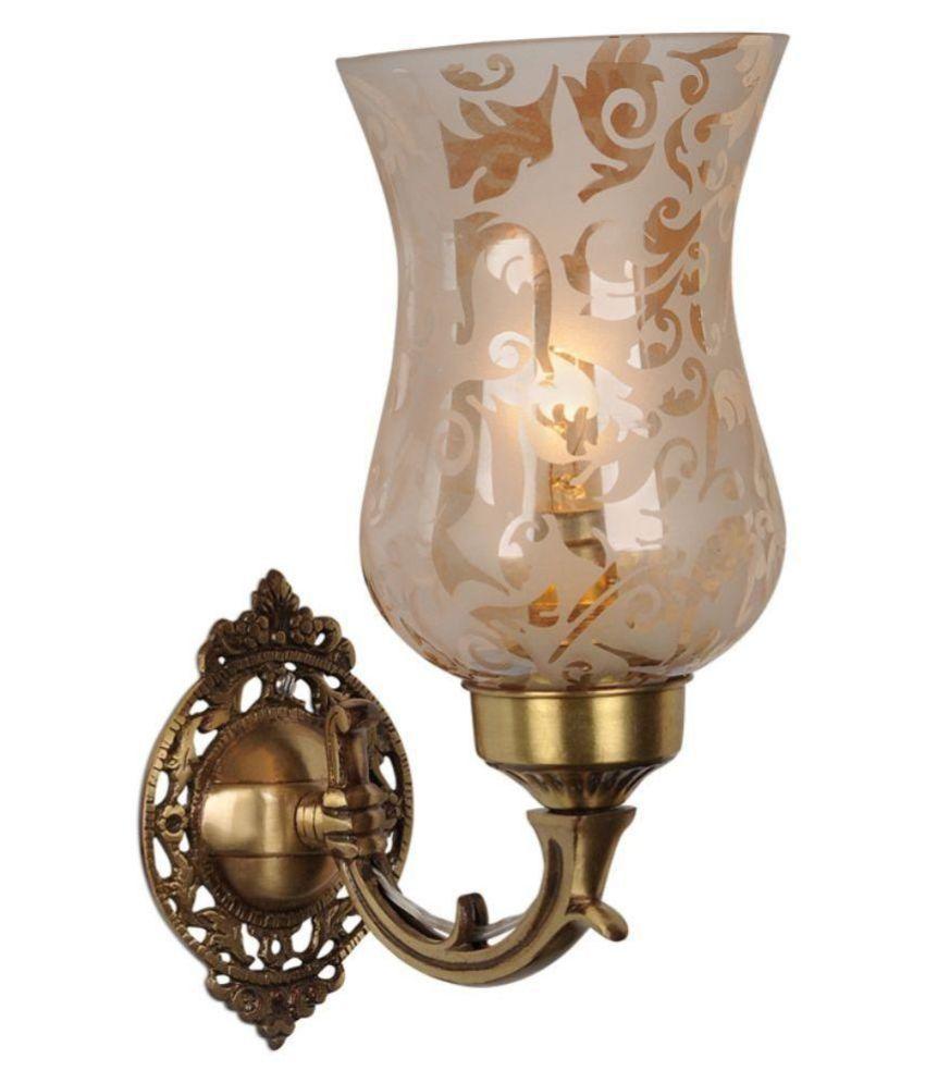 Fos Lighting Brass Wall Light Metal Wall Light Gold - Pack of 1