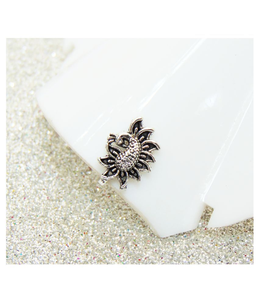 Peacock Party Wear Clip On Nose Designer Nose Pin Women/Girl Fashion Jewelry