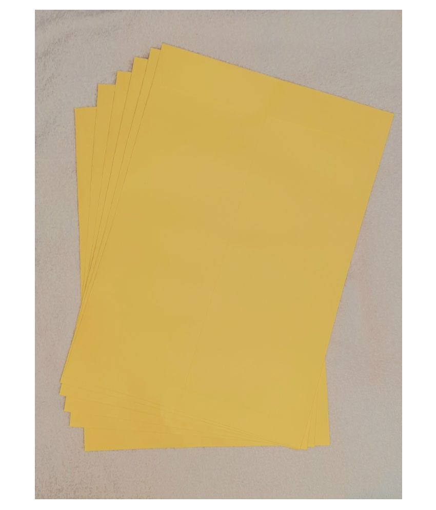 Athar Yellow Business/Documents Envelopes [100 GSM] 8x10 Inches