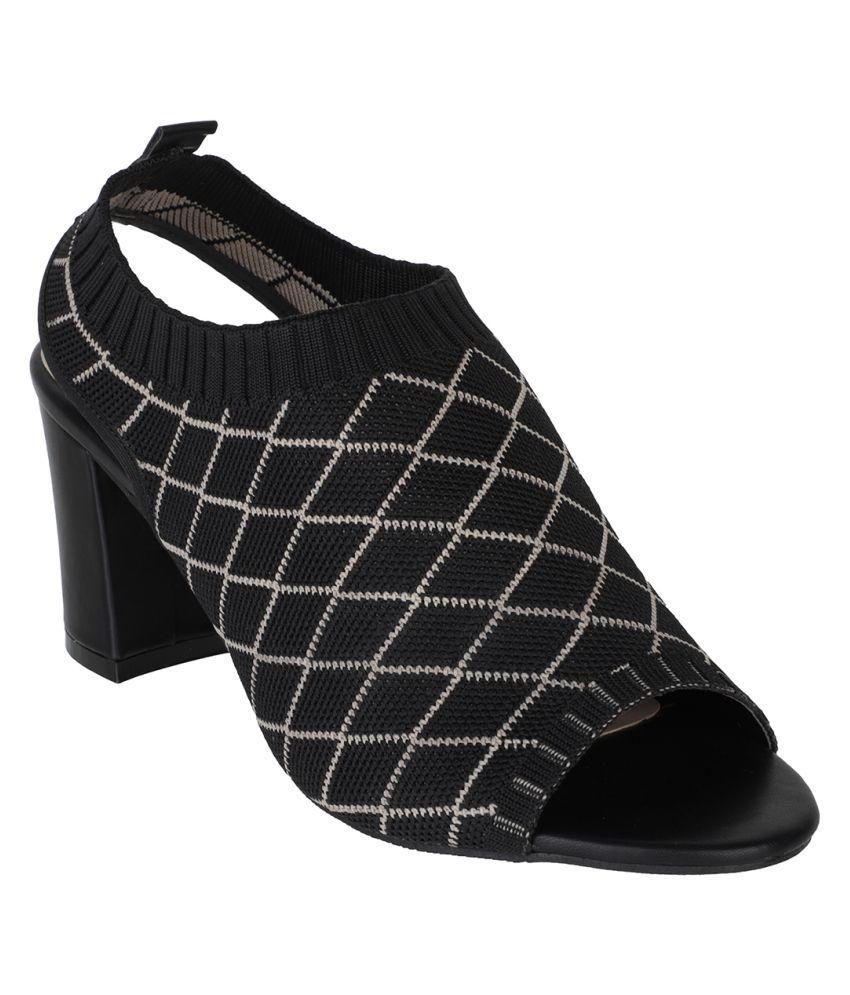 sherrif shoes Black Block Heels