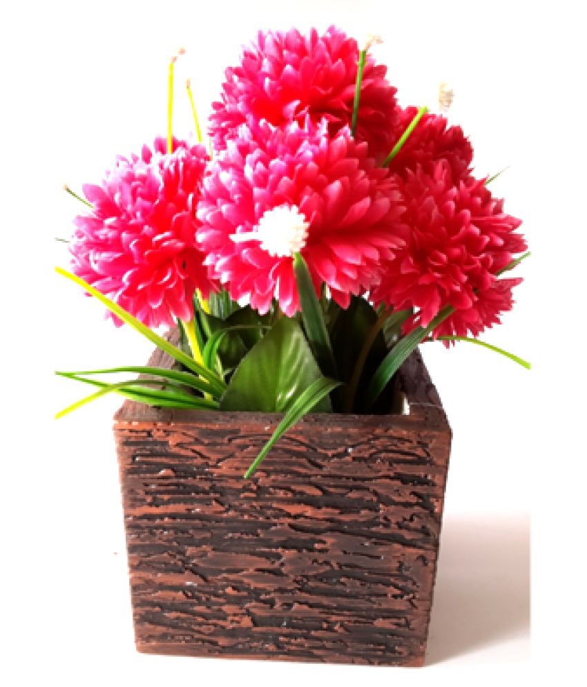 Carnival Wood Table Vase 25 cms - Pack of 1
