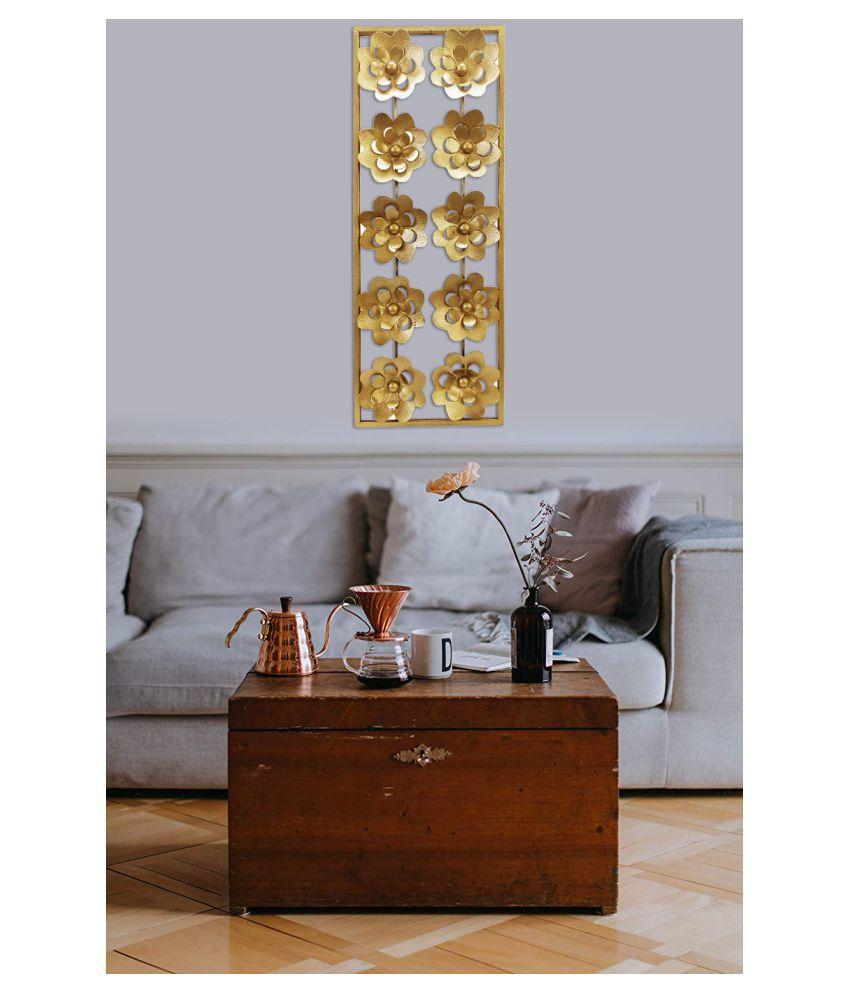designer international Iron Designer International Wall Decor Wall Sculpture Gold - Pack of 1