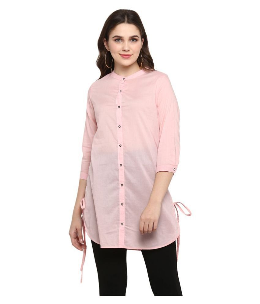 Mode By Red Tape Cotton Tunics - Pink