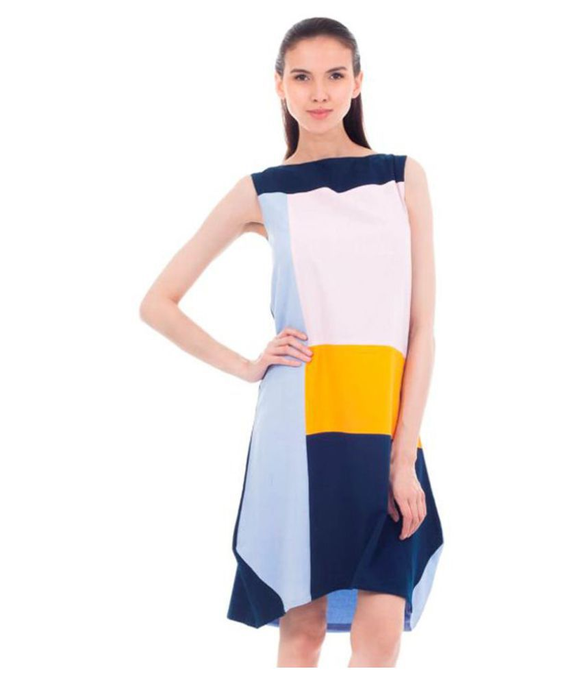 Forever9teen Rayon Multi Color Regular Dress
