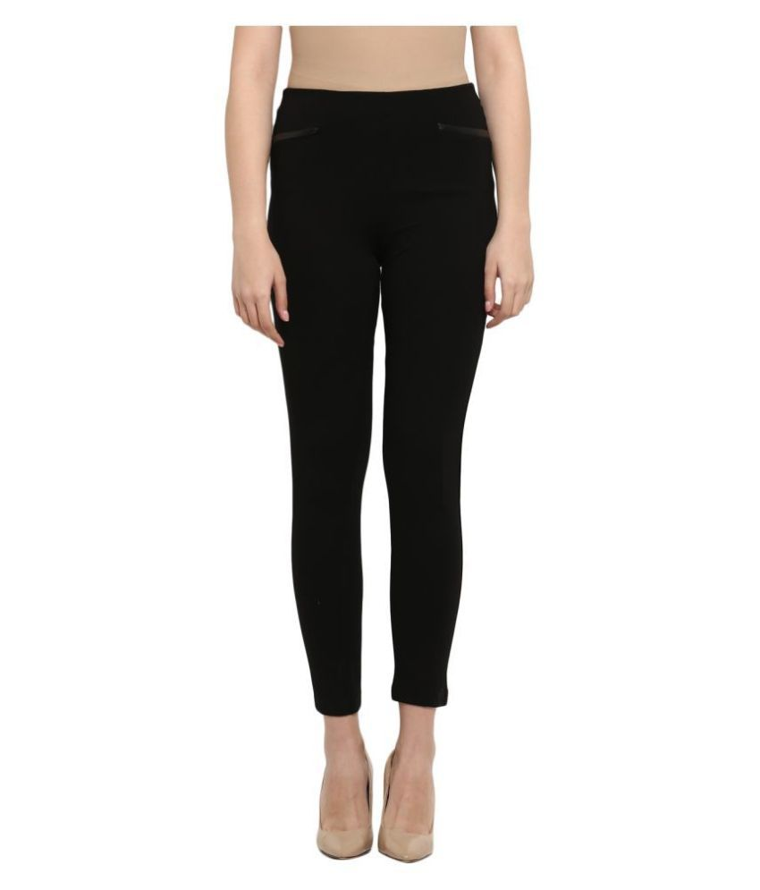 Mode By Red Tape Viscose Jeggings - Black
