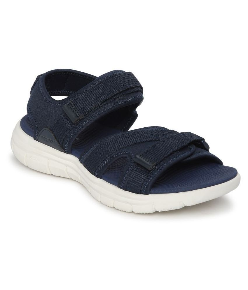 Red Tape Navy Textile Floater Sandals