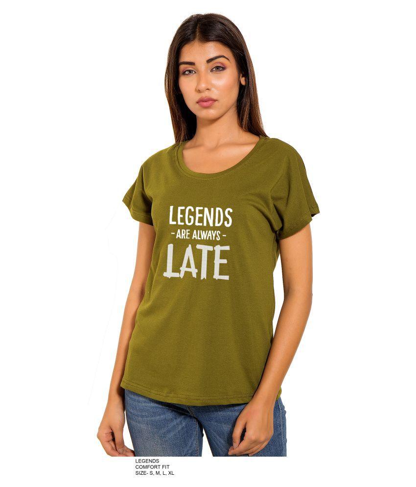 PINK GRAPES Cotton Green T-Shirts