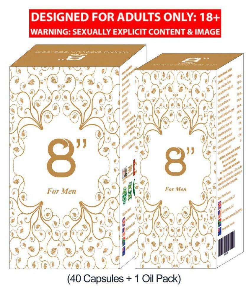 8 Inch Sexual Wellness & Penis Enlargement for Men(40 Capsules + Oil)