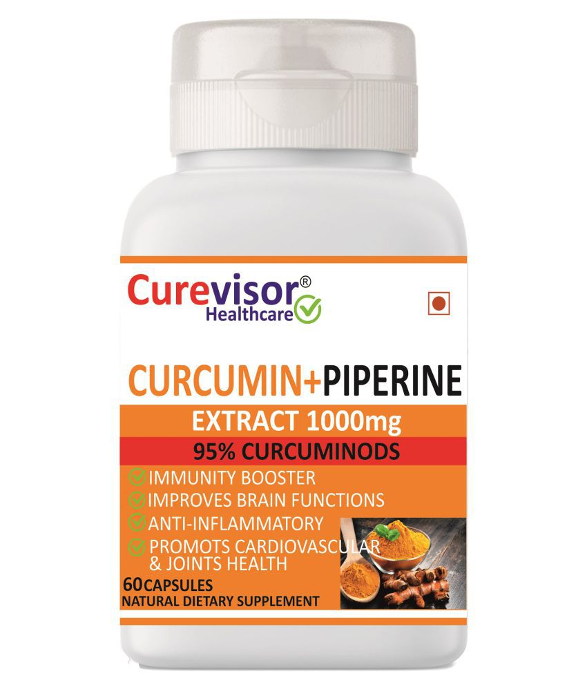 Curevisor Curcumin + Piperine Extract-1000mg Capsule 60 no.s