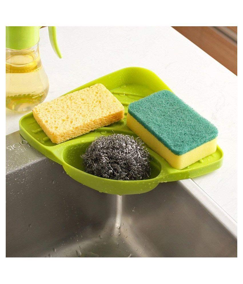 DEZIGNMANTRA Kitchen Corner Shelf Plastic Soap Dish
