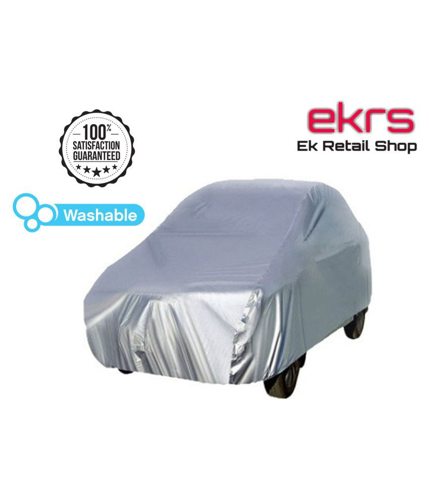 EKRS Silver Matty DUST PROOF Car Body Cover / Car Cover For Maruti Wagon R LXI with Triple Stitching & Light Weight
