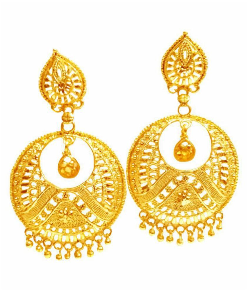 gold plated chand earrings