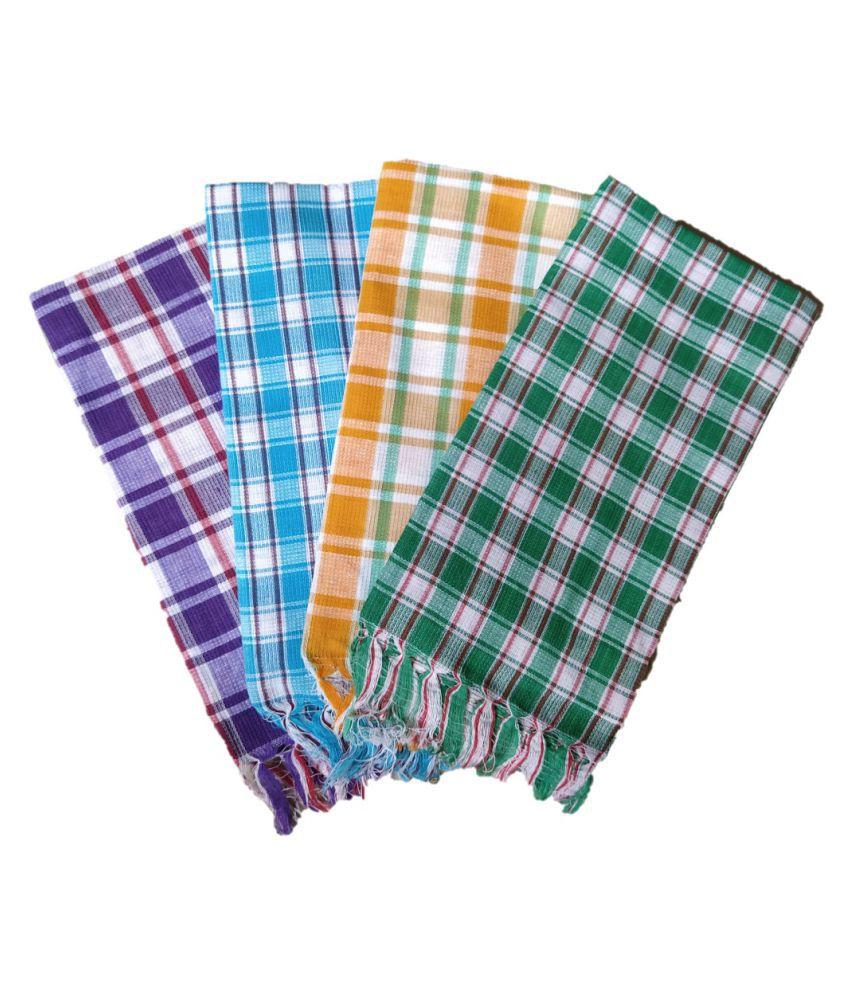 Towel Set of 4 Cotton Bath Towel Multi