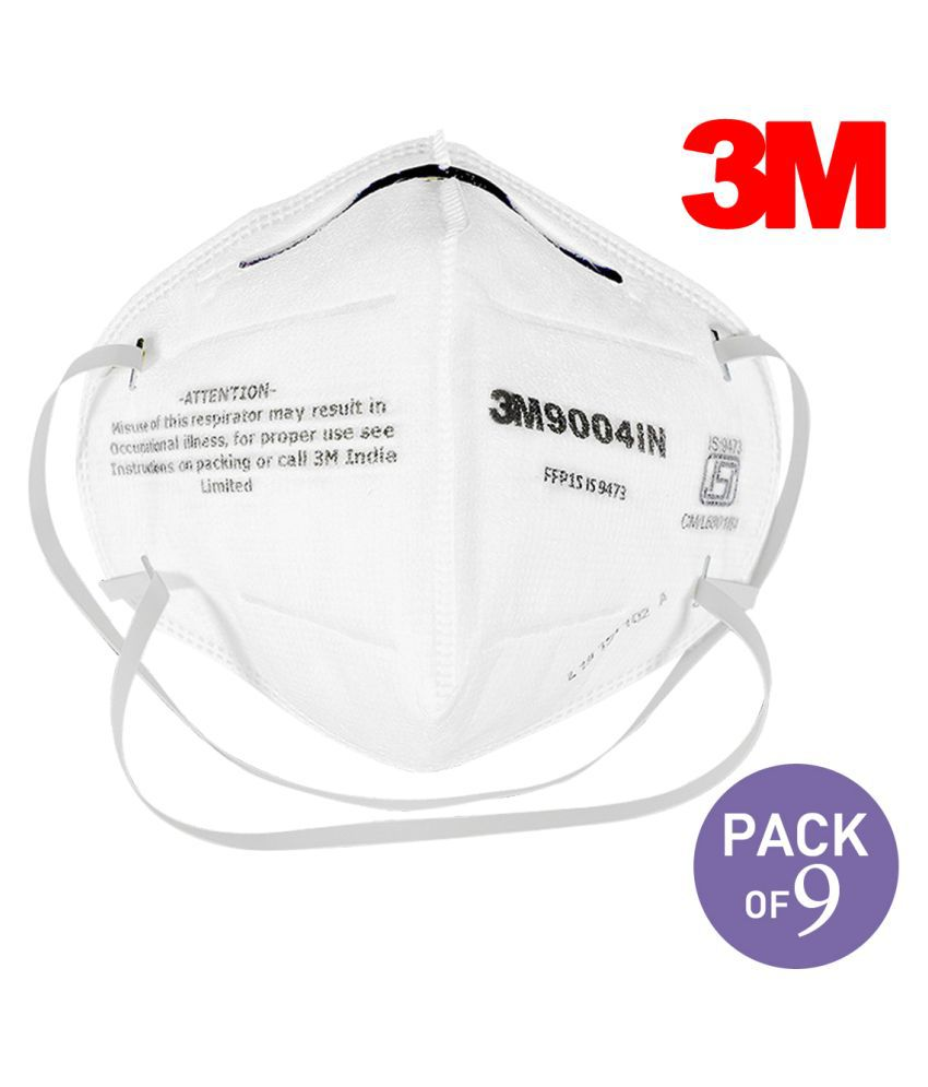 3M™ Particulate Respirator 9004IN (FFP1, BIS, Valved), White, 250 EA/Case (Pack of 9)