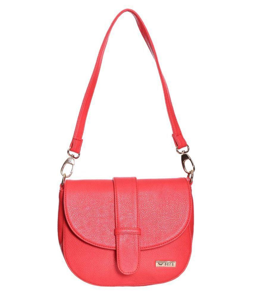 Bern Red P.U. Sling Bag