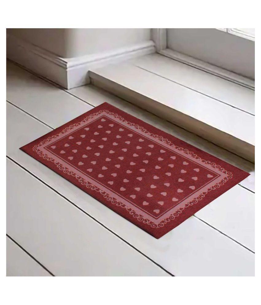 Fashion Art Red Single Floor Mat