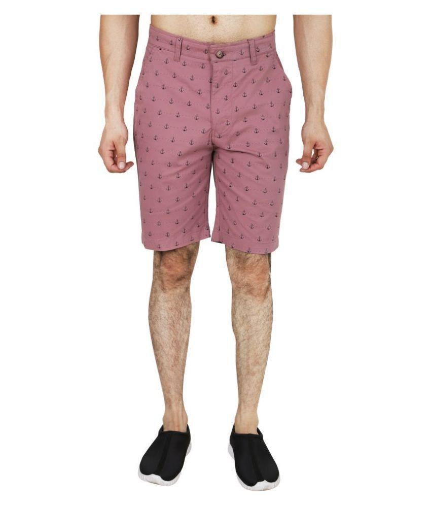 HUDSON & BARROW Purple Shorts