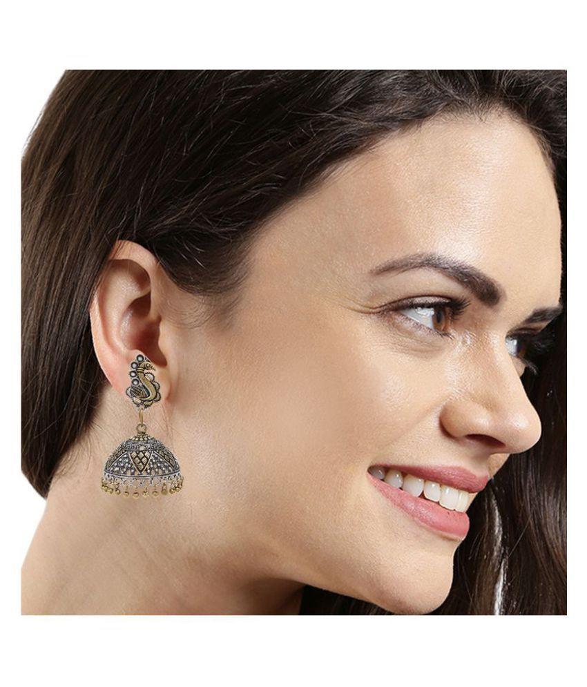 Kord Store Exceptional Peacock Matt Finish Gold Plated Jhumki Earring For Women