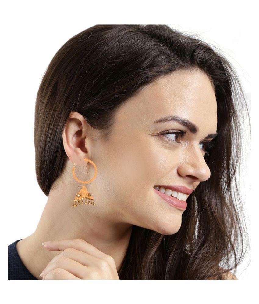 Kord Store Pretty Designer Gold Plated Dangle Earring For Women
