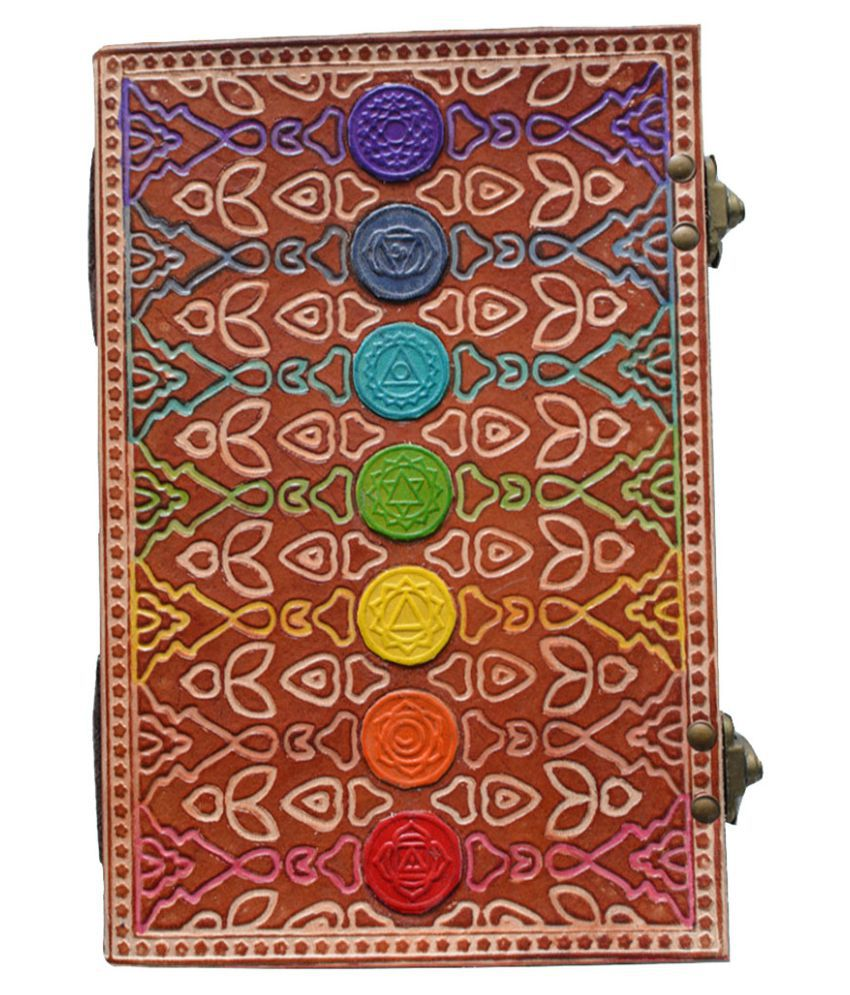Parmatma Handicrafts Seven Chakra Leather Diary, Size (23*13*2.5) Cm with 200 pages