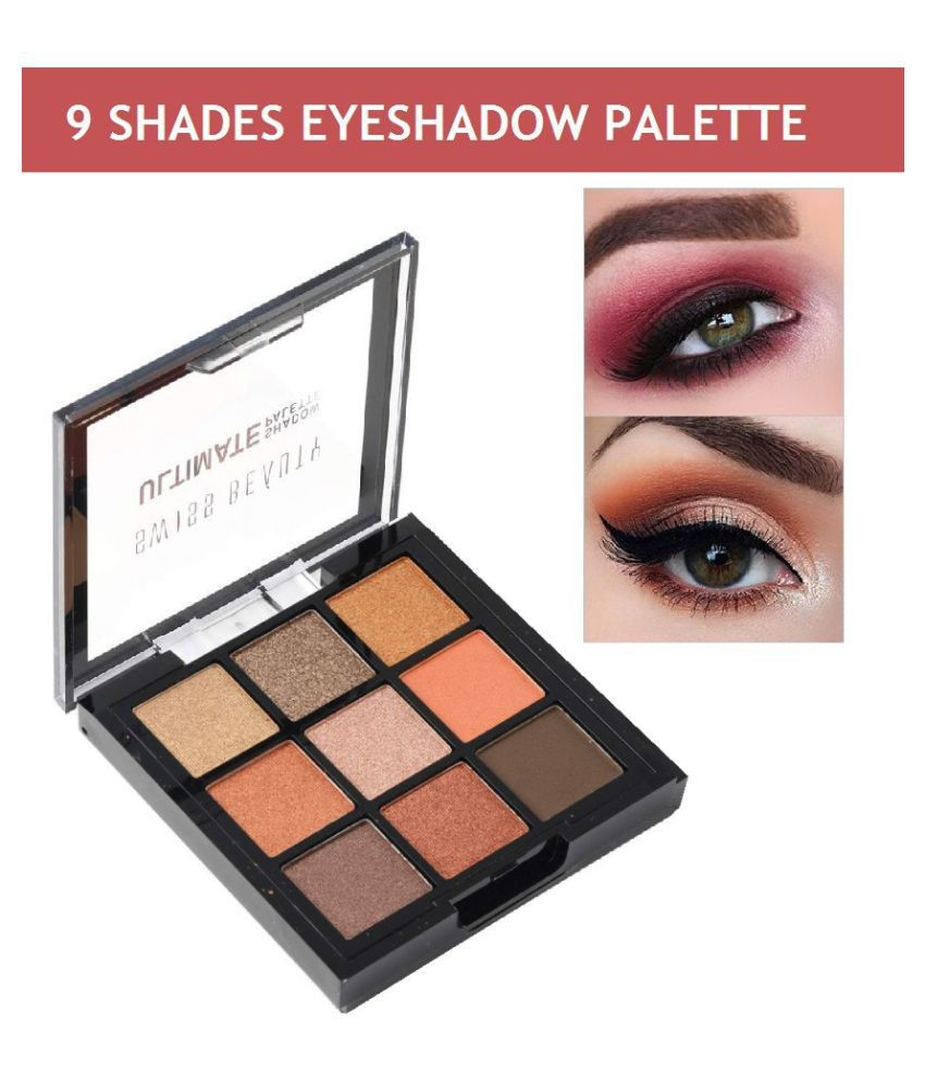 Swiss Beauty Ultimate 9 Color Eyeshadow Palette (Shade-3), 9gm