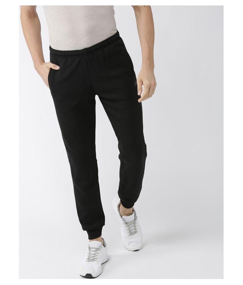 Alcis Black Cotton Trackpants